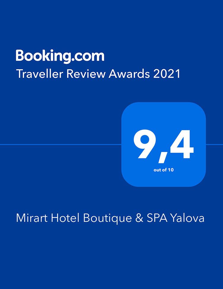 Mirart Hotel - booking com odul